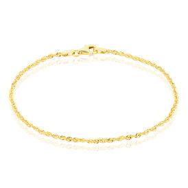 Damenarmband Kordelkette Gold 375  - Armketten Damen   Oro Vivo
