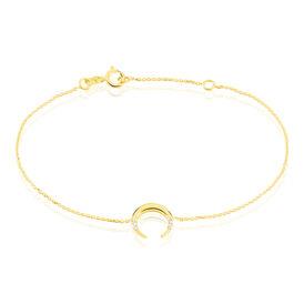 Damenarmband Gold 375 Zirkonia Mond - Armbänder Damen | Oro Vivo