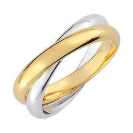 Damenring Vergoldet Bicolor  - Black Friday Damen | Oro Vivo