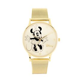 Disney Damenuhr Minnie Maus Kristalle Quarz - Analoguhren  | Oro Vivo