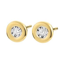 Damen Ohrstecker Gold 375 Diamant 0,52ct - Ohrstecker Damen | Oro Vivo