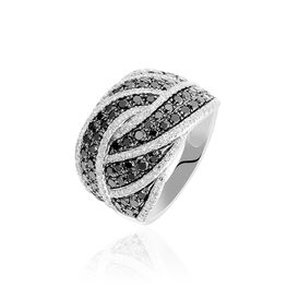 Damenring Weißgold 375 Diamanten 0,259ct - Black Friday Damen | Oro Vivo