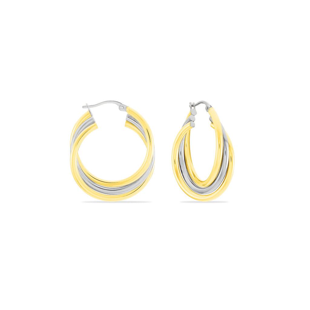 Damen Creolen Gold 375 Bicolor  - Creolen Damen | Oro Vivo