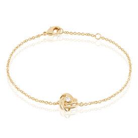 Damenarmband Vergoldet Zirkonia Knoten - Schmuck  | Oro Vivo