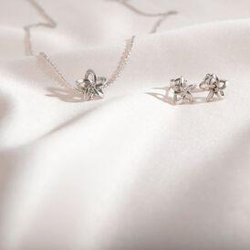 Damen Ohrstecker Silber 925 Diamant 0,016ct Blume - Ohrstecker Damen | Oro Vivo
