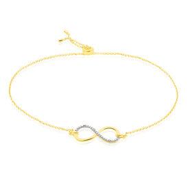 Damenarmband Gold 375 Diamant 0,012ct Inifnity - Armbänder Damen | Oro Vivo