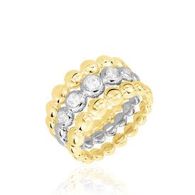 Damenring Silber 925 Bicolor Rosé Vergoldet - Ringe mit Stein Damen   Oro Vivo