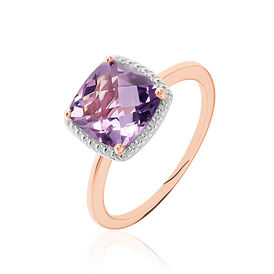 Damenring Roségold 375 Amethyst - Black Friday Damen | Oro Vivo