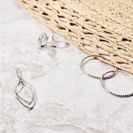Damen Creolen Silber 925 Diamantiert - Creolen Damen | Oro Vivo