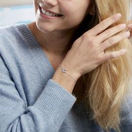 Damenarmband Silber 925 Zirkonia Doppelt Herz - Armbänder    Oro Vivo