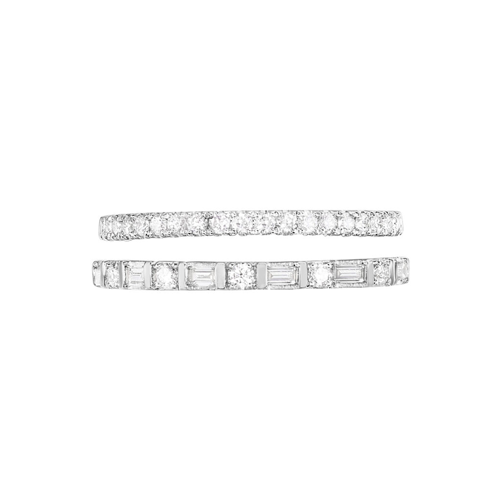 Pavéring Weißgold 375 Diamanten 0,19ct - Eheringe Damen   Oro Vivo
