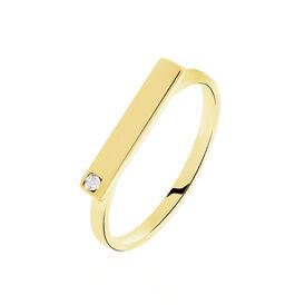 Damenring Silber 925 Vergoldet Diamant 0,005ct - Ringe mit Edelsteinen Damen | Oro Vivo