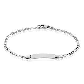 Unisex Id Armband Figarokette Silber 925  - ID-Armbänder Unisexe | Oro Vivo