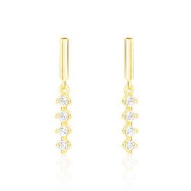 Damen Ohrstecker Lang Gold 375 Zirkonia -   | Oro Vivo