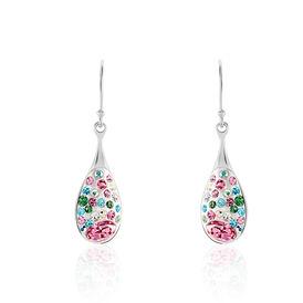Damen Ohrhänger Lang Silber 925 Multicolor  - Ohrhänger Damen | Oro Vivo