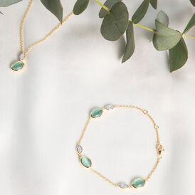 Damenarmband Silber 925 Vergoldet Glas Zirkonia  - Armbänder Damen | Oro Vivo