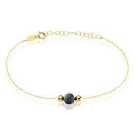 Damenarmband Gold 375 Kugel Schwarz - Armbänder Damen   Oro Vivo