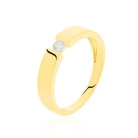 Spannring Gold 375 Diamant 0,04ct - Ringe mit Edelsteinen Damen   Oro Vivo