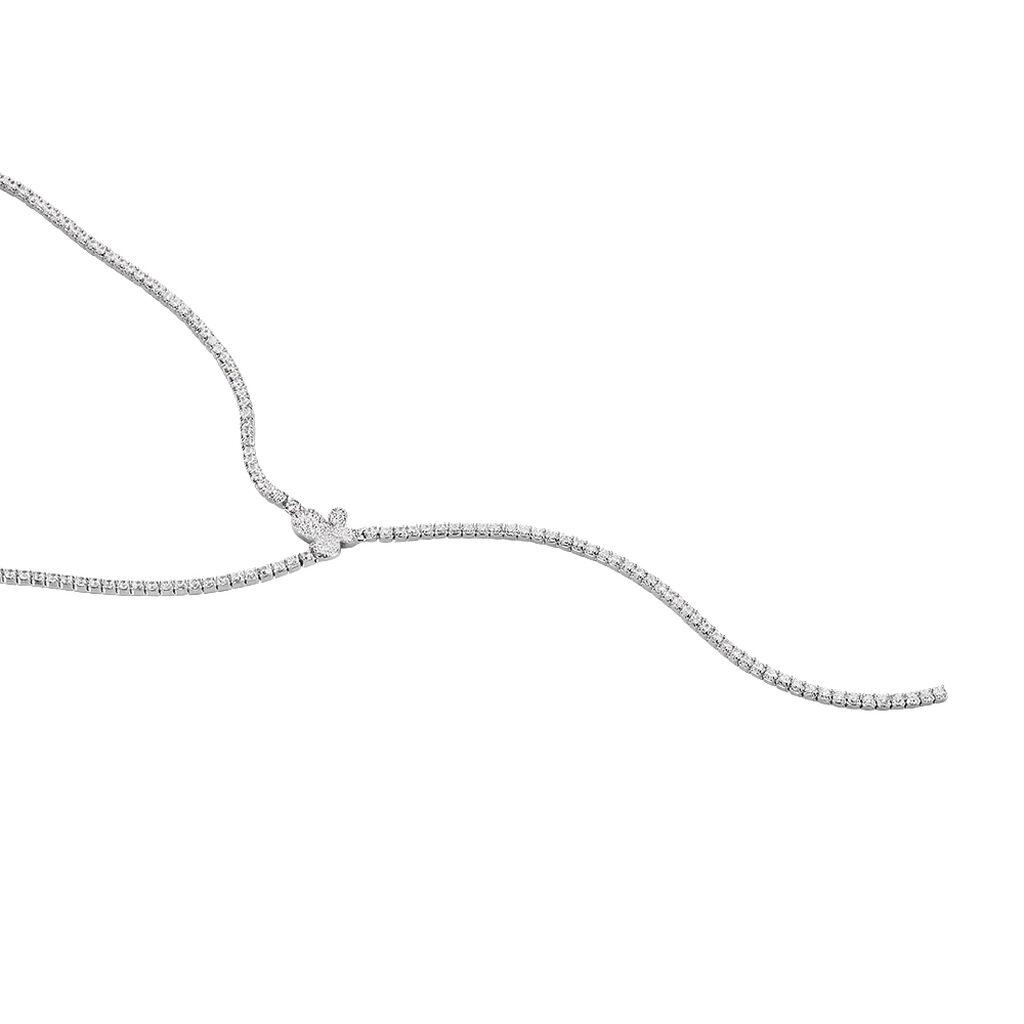 Damen Halskette Silber 925 Zirkonia Schmetterling - Ketten mit Anhänger Damen | Oro Vivo