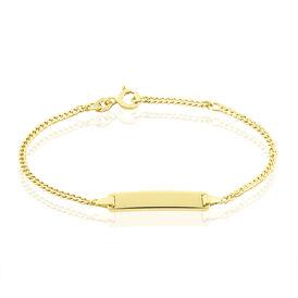 Kinder Id Armband Panzerkette Gold 375  - ID-Armbänder Kinder | Oro Vivo