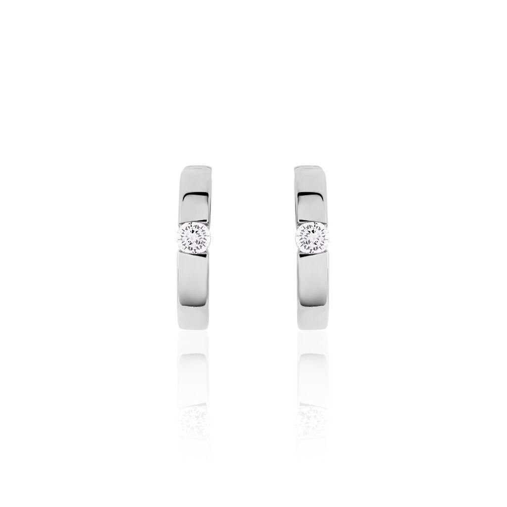 Damen Creolen Silber 925 Zirkonia 20mm - Creolen Damen | Oro Vivo