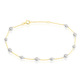 Damenarmband Gold 750 Diamanten 0,4ct Bicolor  - Black Friday Damen | Oro Vivo