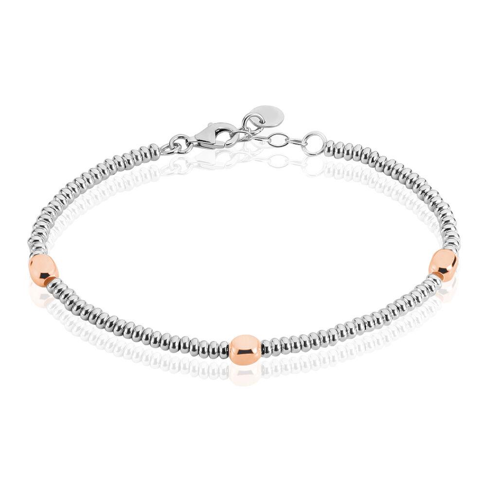 Damen Kugelarmband Kugelkette Silber 925 Bicolor  - Armbänder Damen   Oro Vivo