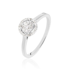 Damenring Weißgold 375 Diamant 0,2ct -  Damen | Oro Vivo