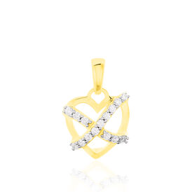Anhänger Gold 333 Zirkonia Herz - Herzanhänger Damen | Oro Vivo