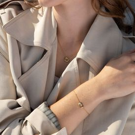 Damenarmband Silber 925 Vergoldet Diamant Herz - Armbänder Damen | Oro Vivo