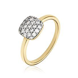 Damenring Silber 925 Vergoldet Zirkonia - Ringe mit Stein    Oro Vivo