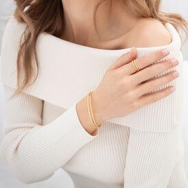 Damen Armreif Silber 925 Vergoldet  - Armreifen  | Oro Vivo