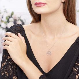 Damen Halskette Silber 925 Rhodiniert Lebensbaum - Ketten mit Anhänger Damen | Oro Vivo
