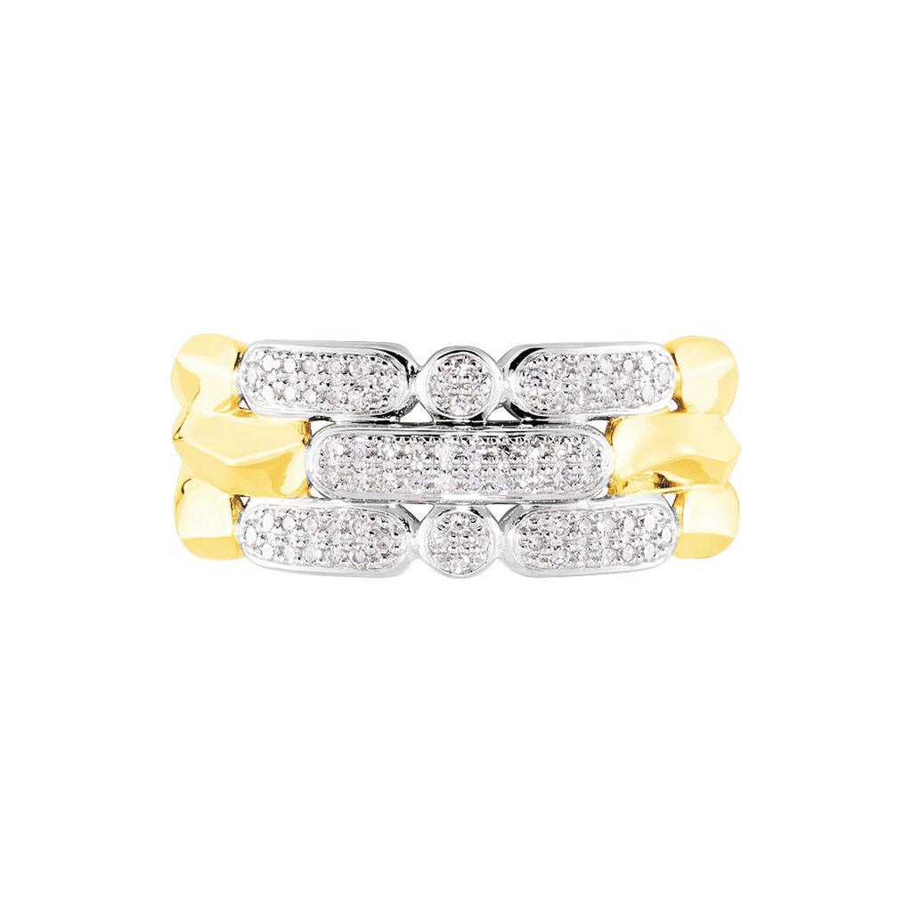 Damenring Gold 375 Diamant 0,183ct - Ringe mit Edelsteinen Damen | Oro Vivo