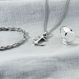 Herren Halskette Edelstahl Anker - Ketten ohne Stein Herren | Oro Vivo