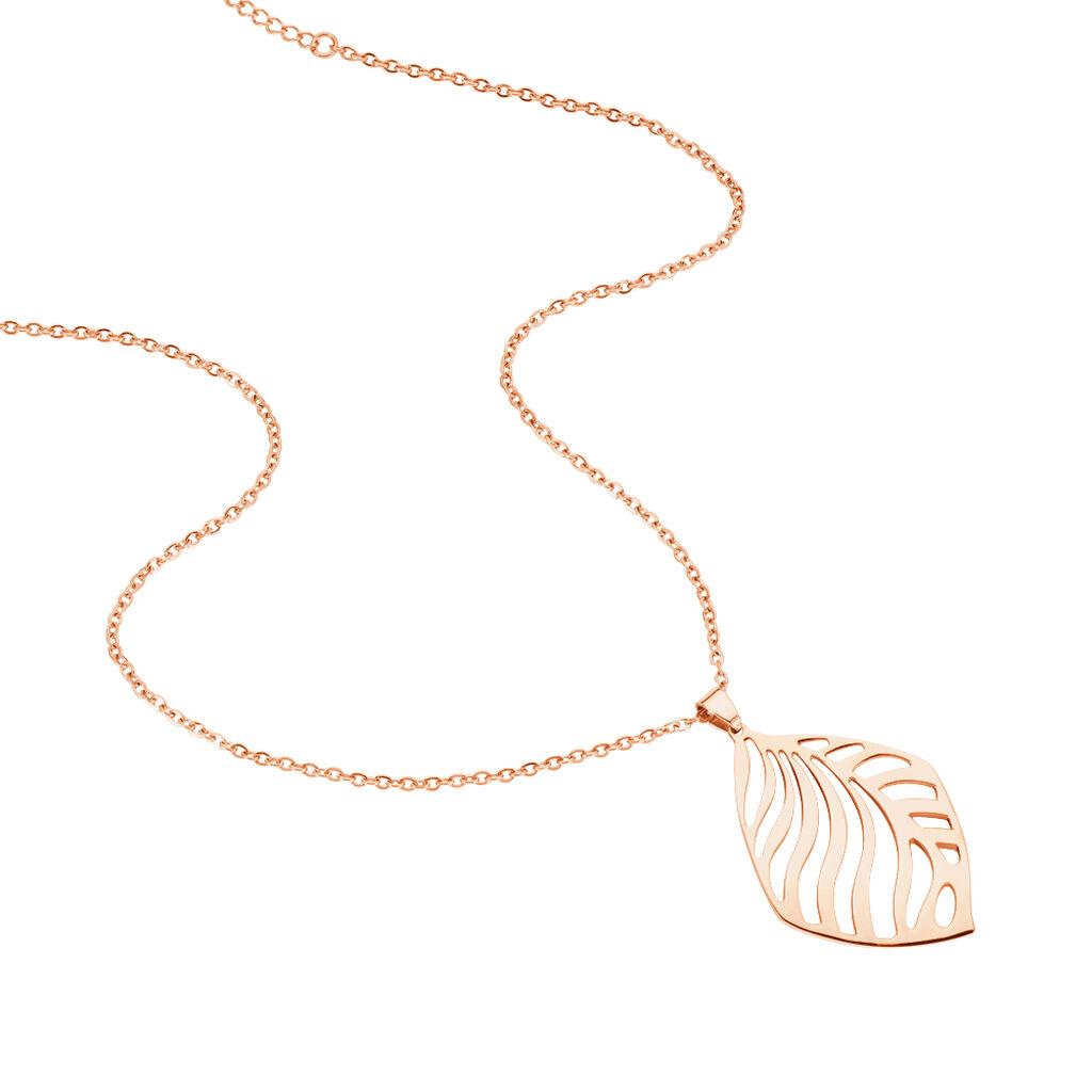 Damen Halskette Edelstahl Rosé Vergoldet - Ketten mit Anhänger Damen   Oro Vivo