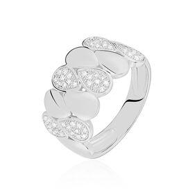 Damenring Weißgold 375 Diamanten 0,146ct - Ringe mit Edelsteinen  | Oro Vivo