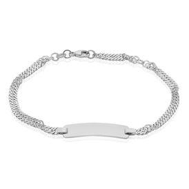 Unisex Id Armband Singapurkette Silber 925  - ID-Armbänder Unisex | Oro Vivo