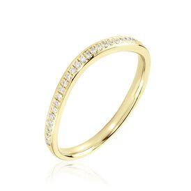 Damenring Gold 375 Diamant 0,1ct  - Ringe mit Edelsteinen Damen | Oro Vivo