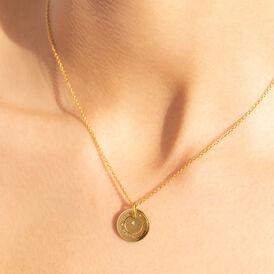 Damen Halskette Silber 925 Vergoldet Diamant - Ketten mit Anhänger Damen | Oro Vivo