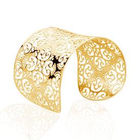 Damen Armreif Edelstahl Blume - Armreifen Damen   Oro Vivo