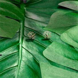 Damen Ohrstecker Silber 925 Rosé Vergoldet Lotus - Ohrstecker Damen   Oro Vivo
