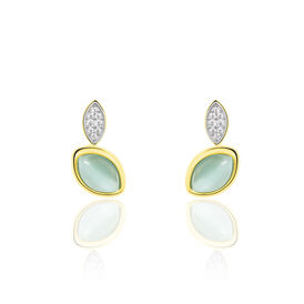 Damenohrstecker Silber 925 Vergoldet -  Damen   Oro Vivo