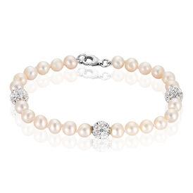 Damen Perlenarmband Silber 925 Zuchtperle - Armbänder Damen | Oro Vivo