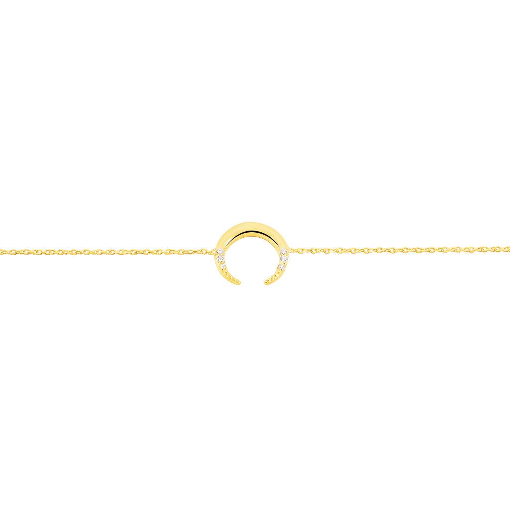 Damenarmband Gold 375 Zirkonia Mond - Armbänder Damen   Oro Vivo