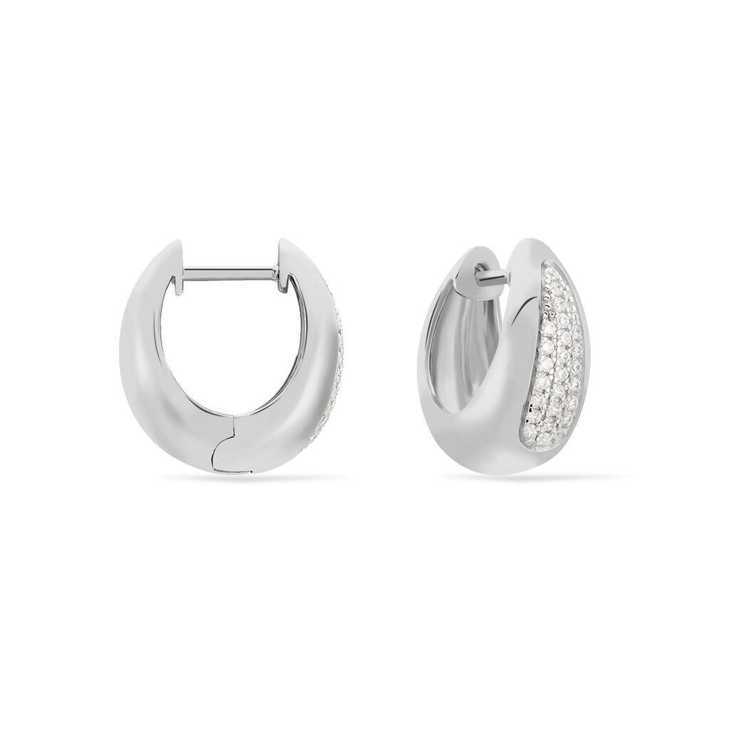 Damen Creolen Silber 925 Zirkonia - Creolen Damen | Oro Vivo