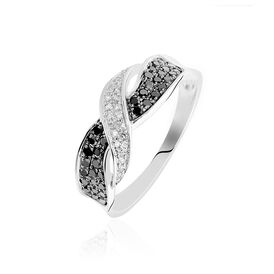 Damenring Weißgold 375 Diamanten 0,13ct - Black Friday Damen | Oro Vivo