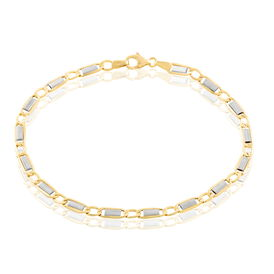 Herrenarmband Ankerkette Gold 375 Bicolor  - Armketten Herren | Oro Vivo