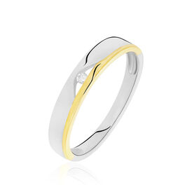 Spannring Silber 925 Bicolor Vergoldet Diamant - Kategorie Damen | Oro Vivo