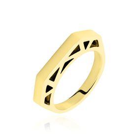 Damenring Edelstahl Vergoldet  - Ringe Damen   Oro Vivo